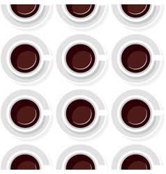 seamless background from cups of coffee in a flat vector image
