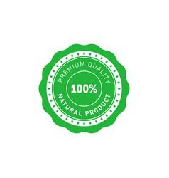 100 percent natural product premium quality vector