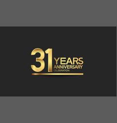 31 years anniversary celebration with elegant vector