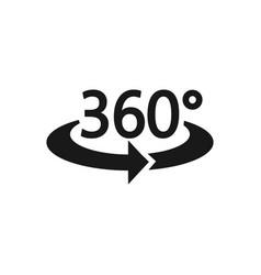 360 icon flat design vector image