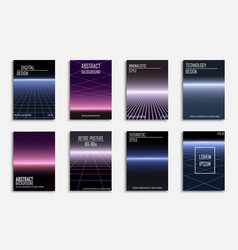 Abstract contemporary templates covers placards vector