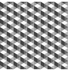 Abstract geometric background monochrome cube vector image