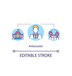 Ambassador concept icon vector