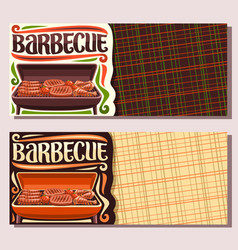 banners for barbecue vector image