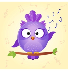 Bird sing vector