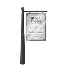 Bookstore signage icon in monochrome style vector