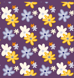 bright summer seamless pattern with chamomile vector image