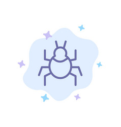Bug nature virus indian blue icon on abstract vector