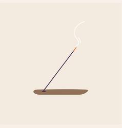 Burning joss stick wooden vector