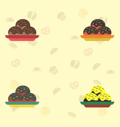Cakes set icons vector