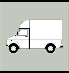Cargo van lining draw vector