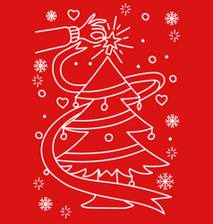 christmas theme and background vector image