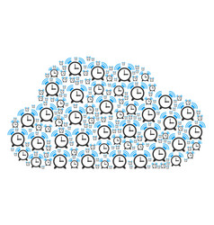 Cloud collage of buzzer icons vector