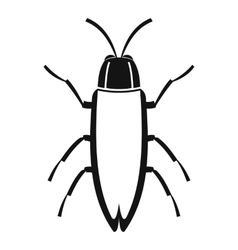 Cockroach icon simple style vector
