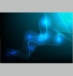Curved line blue abstract background vector