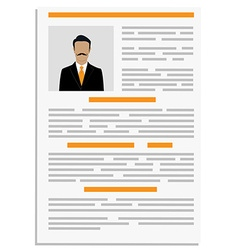 CV design template vector