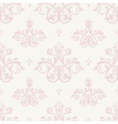 Damask Seamless Pink Pattern vector image