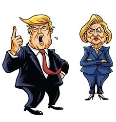 Donald Trump Vs Hillary Clinton vector