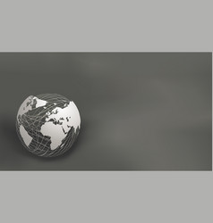 europe africa and america abstract paper cut vector image
