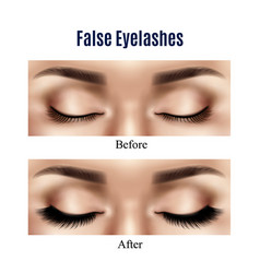 eyes false lashes realistic vector image