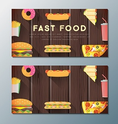 Fast food banner backdrops templates vector