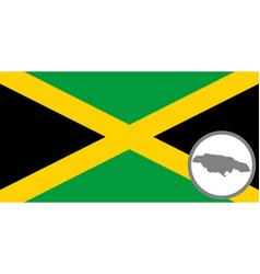 flag and map o jamaica vector image