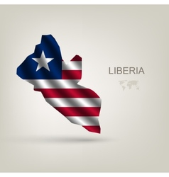 Flag of liberia as the country vector