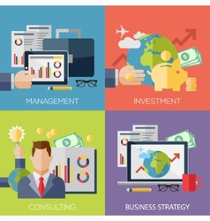 Flat design concepts for business strategy vector