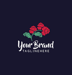 flower logo can be used for flower store beauty vector image