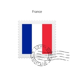 France flag postage stamp vector