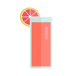 Glass with Grapefruit Drink vector