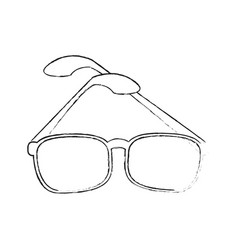 glasses modern style vector image