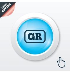 Greek language sign icon GR Greece translation vector image