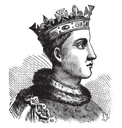 Henry vi of england vintage vector