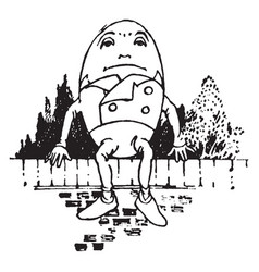 Humpty dumpty vintage vector