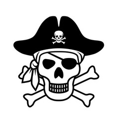 icon pirate vector image
