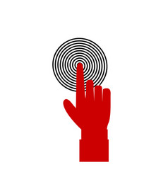 index finger pointing to the target business vector image