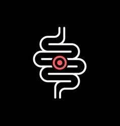 Intestines ache or problem line icon vector