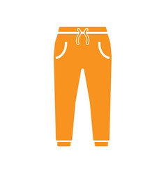 jeans trouser icon design template vector image