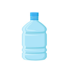 Large plastic bottle for drinking water empty vector