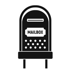 Letterbox icon simple style vector