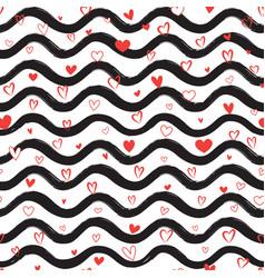 Love heart seamless pattern abstract stylish hand vector