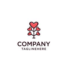 Love tree design logo vector