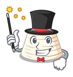 Magician fresh ricotta cheese on mascot cartoon vector