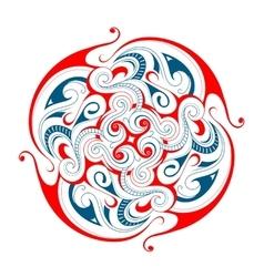 Maori tattoo shape vector