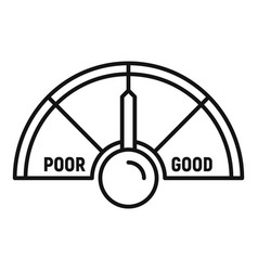 Medium credit score icon outline style vector