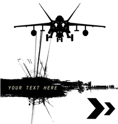 military grunge vector image