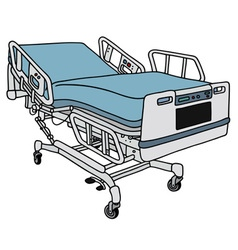 Modern hospital bed vector
