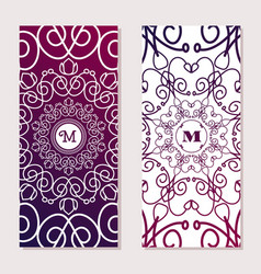 monogram font vertical in intricate pattern vector image