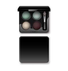 MultiColored Cream Blue Vinous Eye Shadows in Case vector image